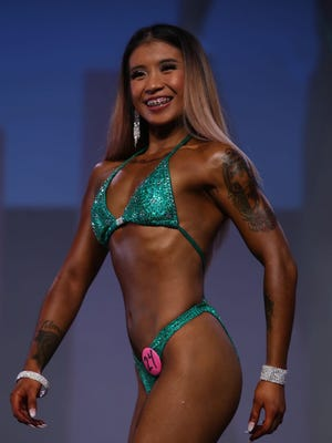 Wennilyn Almazan placed fourth in the Open Figure A category of the 2017 NPC Washington IronMan Natural Bodybuilding, Classic Physique, Fitness, Figure, Bikini and Physique Championships in Seattle, Washington.