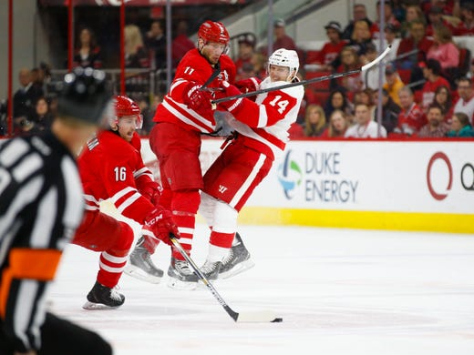 98f8b6ccbf0 Apr. 11  Carolina Hurricanes forward Jordan Staal (11)