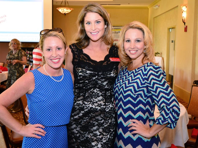 Andi Lyons, Thersa Cserep and Heather Stout at the Junior League dinner and awards celebration. <strong>For more stories and photos, see the June issue of Pensacola Bella