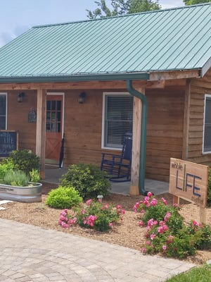 Life Assembly in Mt. Juliet has renovated this donated cabin to provide free shopping for families with children in Wilson County Schools' Backpack program.