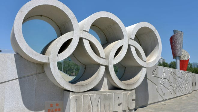 General view of Olympic rings