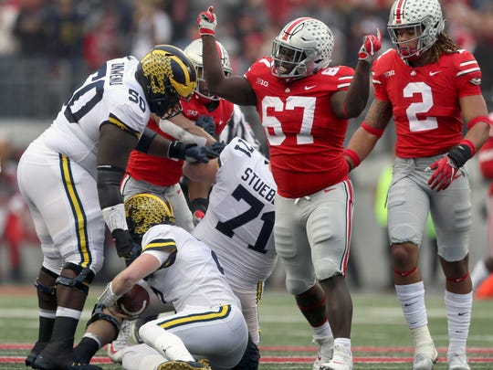 """Ohio State won its seventh straight game against Michigan in November. Now, the Buckeyes want to trademark the word """"THE."""""""