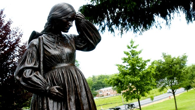 Statue of Elizabeth Thorn from the Evergreen Cemetery in Gettysburg.