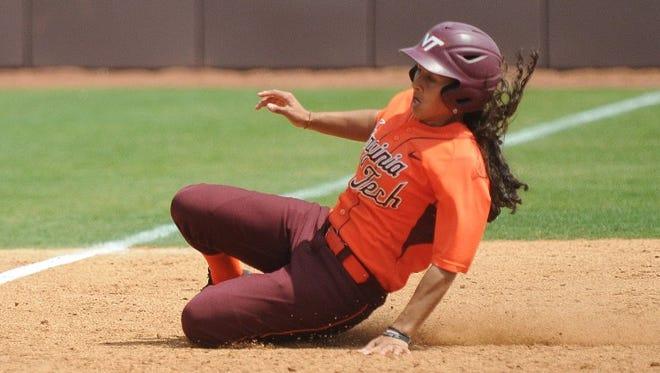 Lauren Gaskill set a career record at Virginia Tech recently.