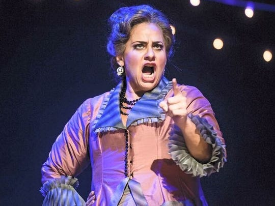 "Mezzo-soprano Jenni Bank performs as Marcellina in ""Le nozze di Figaro"" by Mozart at Wolf Trap Opera."