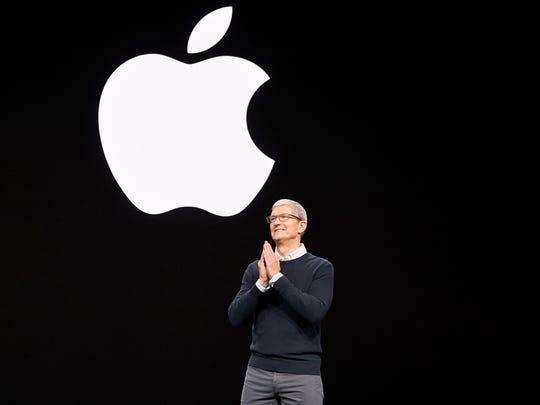 Apple CEO Tim Cook kicks off Apple's March 2019 match.