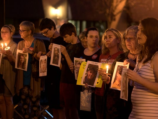 Candlelight Vigil for Parkland Shooting Victims 10