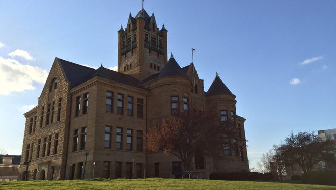 The Johnson County Courthouse is seen on Monday.