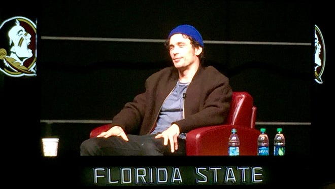 James Franco speaks at the Donald L. Tucker Civic Center.