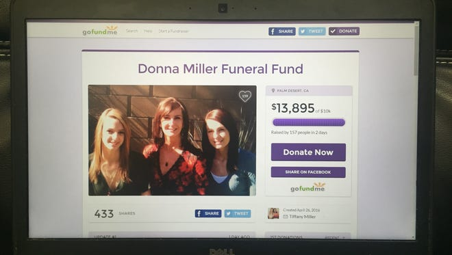 The GoFundMe page set up to help pay for Donna Maltese's funeral.