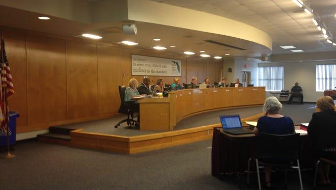 School board meeting on July 28.
