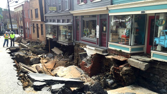 The rainfall that caused the devastating flash flood Ellicott City, Md.,on July 30, 2016, killing two people, was a 1-in-1,000 year weather event, meteorologists said.