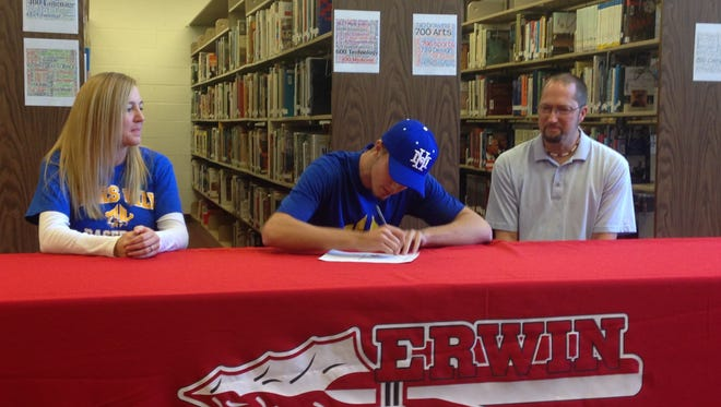 Erwin senior Cameron Howell has signed to play college baseball for Mars Hill.