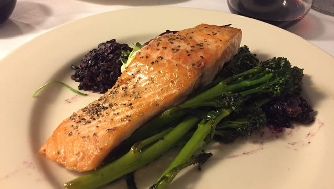 Parkside Seafood House and Oyster Bar's Organic Wild Isle Salmon was moist and a tasty dinner that one doesn't expect to find in the heartland.