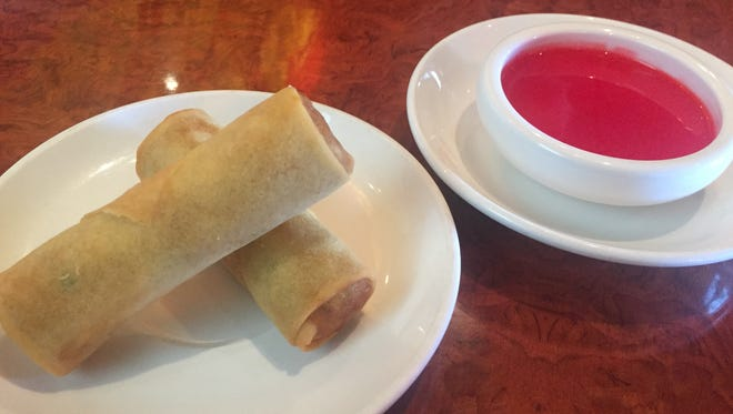 Panda Garden's spring rolls are a tasty, affordable appetizer that are ordered by the roll.