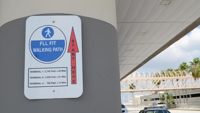 Fort Lauderdale-Hollywood International Airport has a 1.3 mile FLL Fit Walking Path between the terminals and a bag-storage concession where passengers can leave their carry-ons.
