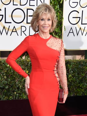 Jane Fonda attends the 72nd Annual Golden Globe Awards at The Beverly Hilton Hotel on January 11, 2015 in Beverly Hills, California.