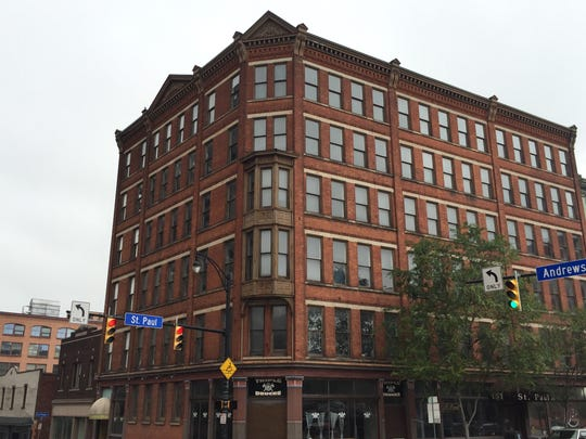 The Siebert Building, built in 1884 at Andrews and St. Paul streets.