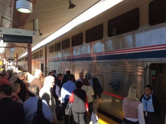 Passengers board the Amtrak Sunset Limited at Union