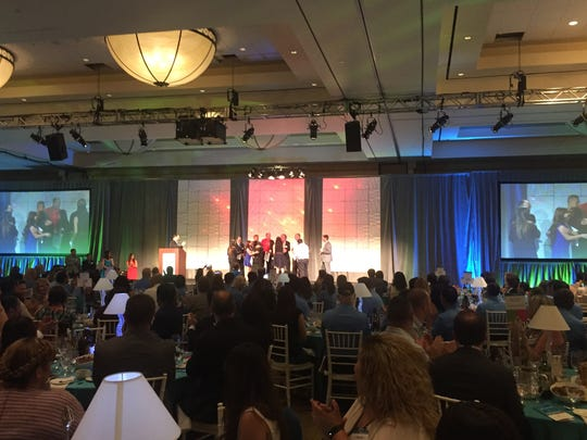 Some 650 workers and others from the Coachella Valley's tourism industry attended the 2016 Oasis Awards, presented by the Greater Palm Springs Convention and Visitors Bureau. The annual event was held Tuesday at the Westin Mission Hills Resort in Rancho Mirage.