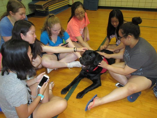 Students at Westfield High School had an unusual visitor