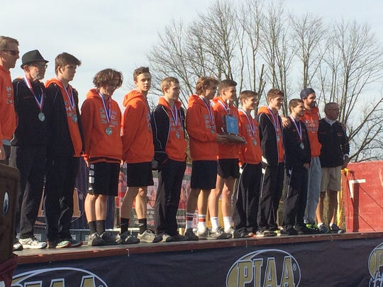 York Suburban stands with its PIAA Class 2A boys' runner-up