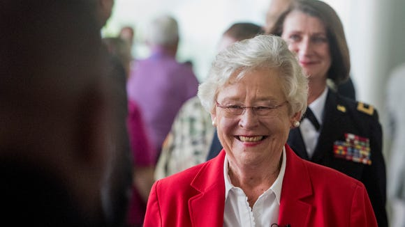 Alabama Governor Kay Ivey attends the change of command