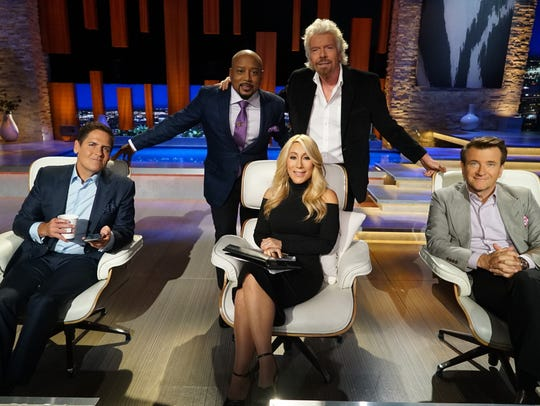 Mark Cuban, Daymond John,  Lori Greiner, Richard Branson