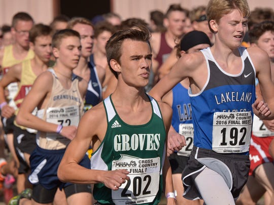 Birmingham Groves senior Alexander Ross (202) finished 50th overall after qualifying for the D-1 state meet as an individual.