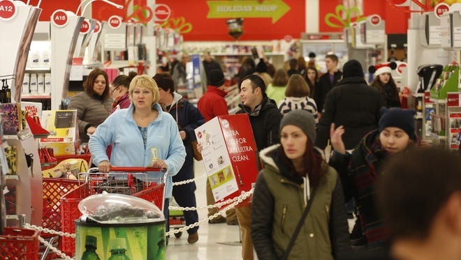 Shoppers flooded the aisles of Target in Grand Chute Thanksgiving evening last year.