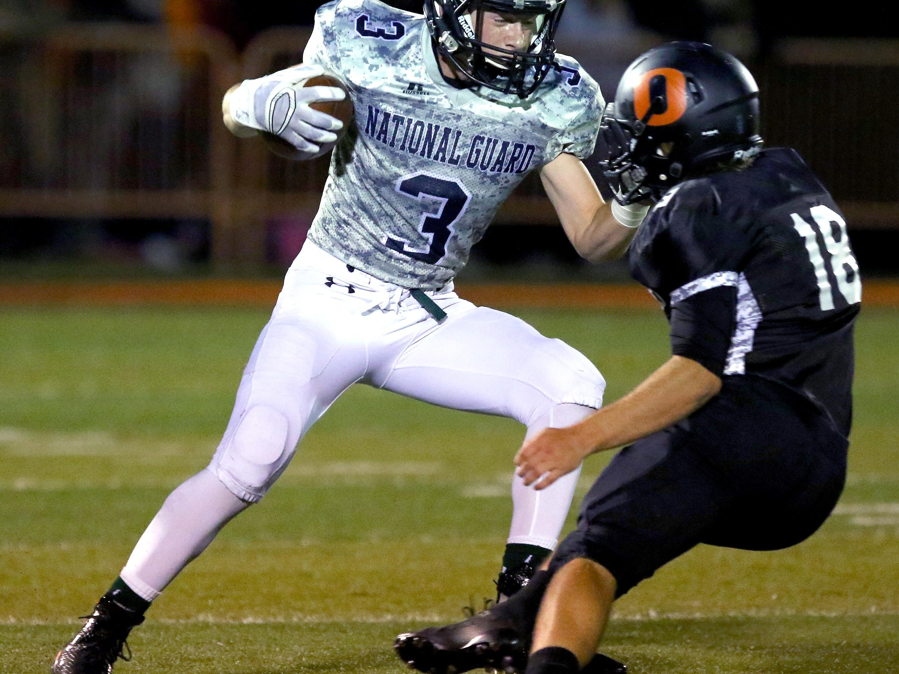 West Salem wide receiver Hunter Johnson runs after a catch against Sprague during a Greater Valley Conference game, Friday, Oct. 2, 2015, in Salem, Ore.