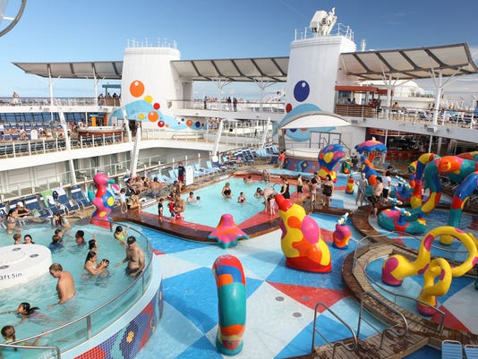 Oasis of the Seas launch.