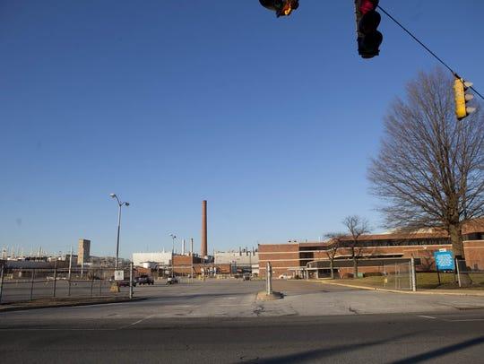 The Fisker Automotive plant near Newport is shown on