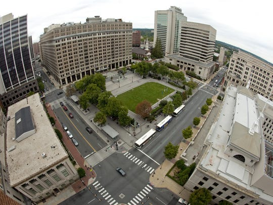Rodney Square was built in 1921 in downtown Wilmington and remains the city's heart and gathering spot.