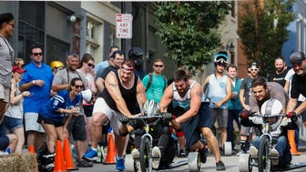 Pendleton's Danger Wheel race and competition.