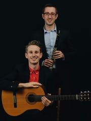 Joseph Peliska, seated, and Samuel Peliska open the Classic Chamber Concert Series.