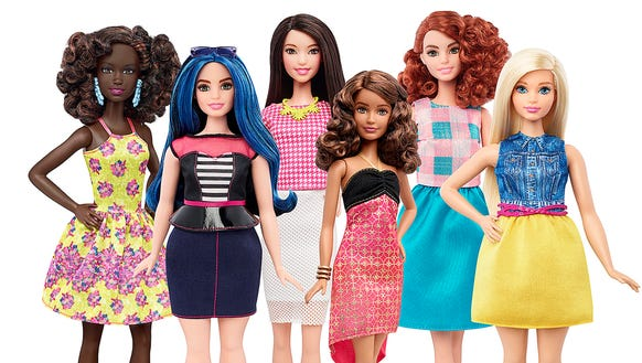 Here are some of the new, more diverse dolls Mattel