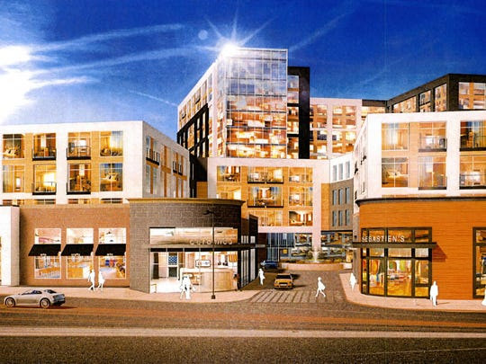 "Rendering of  the mixed-use ""The Collection""  development as seen from Westchester Avenue in White Plains."