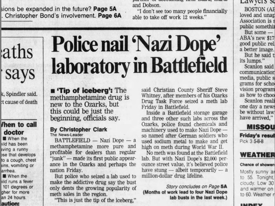 This News-Leader story ran in three days after Bob Paillet was arrested in February 1993, three days after Bob Paillet was arrested.