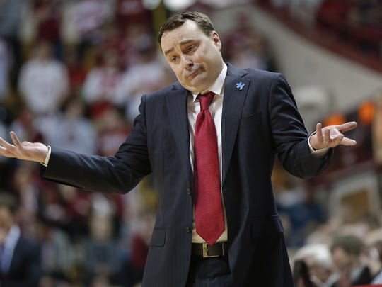 Archie Miller reacts during the game against the Minnesota at Simon Skjodt Assembly Hall.