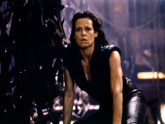 Ripley (Sigourney Weaver) is reborn as a human/alien