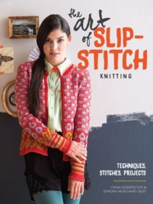 """Although I was not particularly attracted to the sweater on the cover, I discovered """"The art of slip-stitch knitting"""" is really a terrific book."""