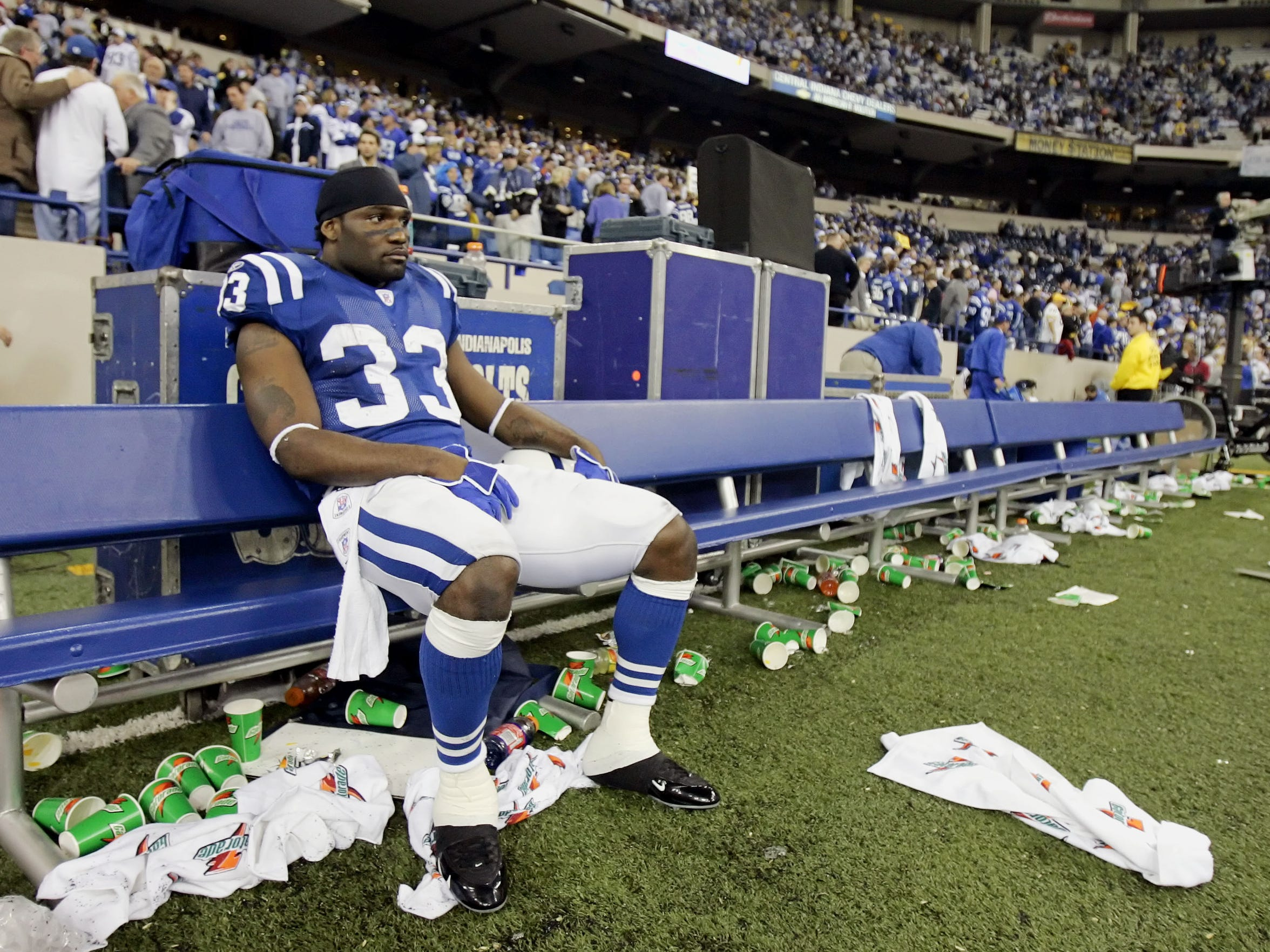 """Just like that, a 14-2 season was over. """"The toughest loss of all those years to swallow,"""" said former Colts team president Bill Polian."""