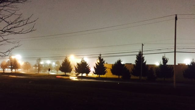 Fog filled the air in West Manchester Township Tuesday. An advisory is in effect through 10 a.m. Wednesday.