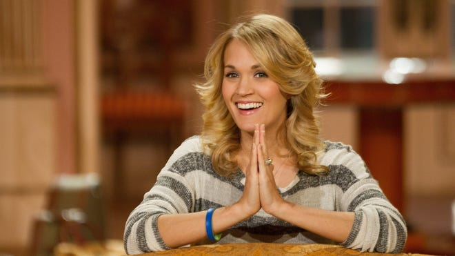 """Carrie Underwood stars as Maria in the live TV production of """"The Sound of Music,"""" airing Thursday on NBC."""