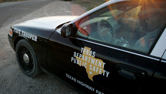 "Tony Gutierrez/AP Texas Department of Public Safety classified more than 1,800 offenders arrested near the border as high-threat criminals. FILE - In this April 6, 2008, file photo, a Texas State Trooper is shown sitting in his vehicle in Eldorado, Texas. Drivers in Texas busted for drunken driving, not paying child support or low-level drug offenses are among thousands of ""high-threat"" criminal arrests that officials have touted in defense of a nearly $1 billion mission to secure the border with Mexico, an Associated Press analysis has found. (AP Photo/Tony Gutierrez, File)"