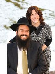 Rabbi Shalom, left, with his wife, Aharona Lubin.