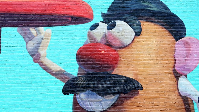 Mr. Potato Head's appearance in the ArtWorks mural is a tribute to The Hassenfeld Family Foundation, created by the Hasbro founding family. The foundation is one of the the sponsors of the ArtWorks mural.