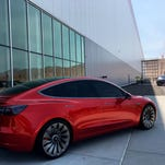 Tesla's Gigafactory, outside of Reno, will build batteries as well as cars. Work at the construction site is speeding up.
