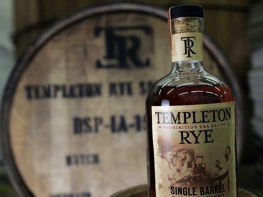 A bottle of Templeton Rye.